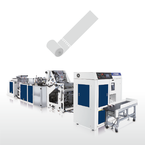 Fully Automatic High Speed Single Line Coreless Bag on roll Making Machine / SSR-40-L1+2T