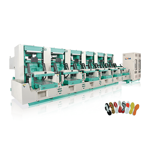 High Efficiency Double Cylinder Auto Rubber Sole  Molding Press - CT-720