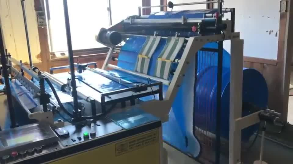 Fully Automatic Three Folding Garbage Bag Making Machine